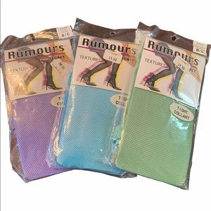 3 For $30 Rumours by Secret Mesh tights One Size